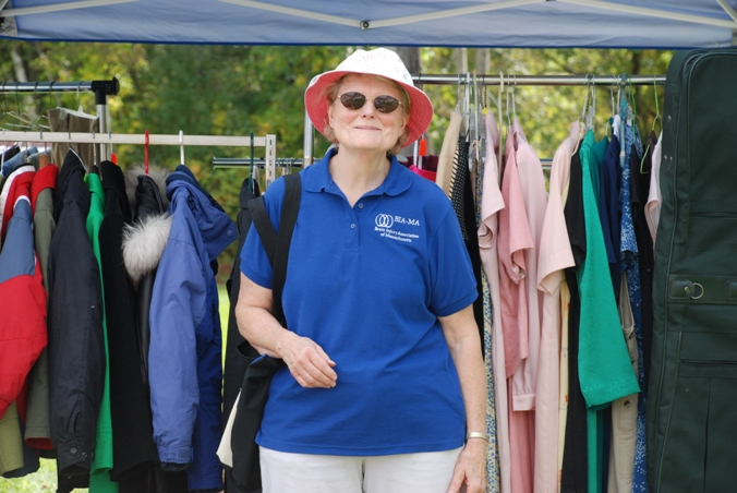 Joan Rauch at the Volunteer-hosted yard sale